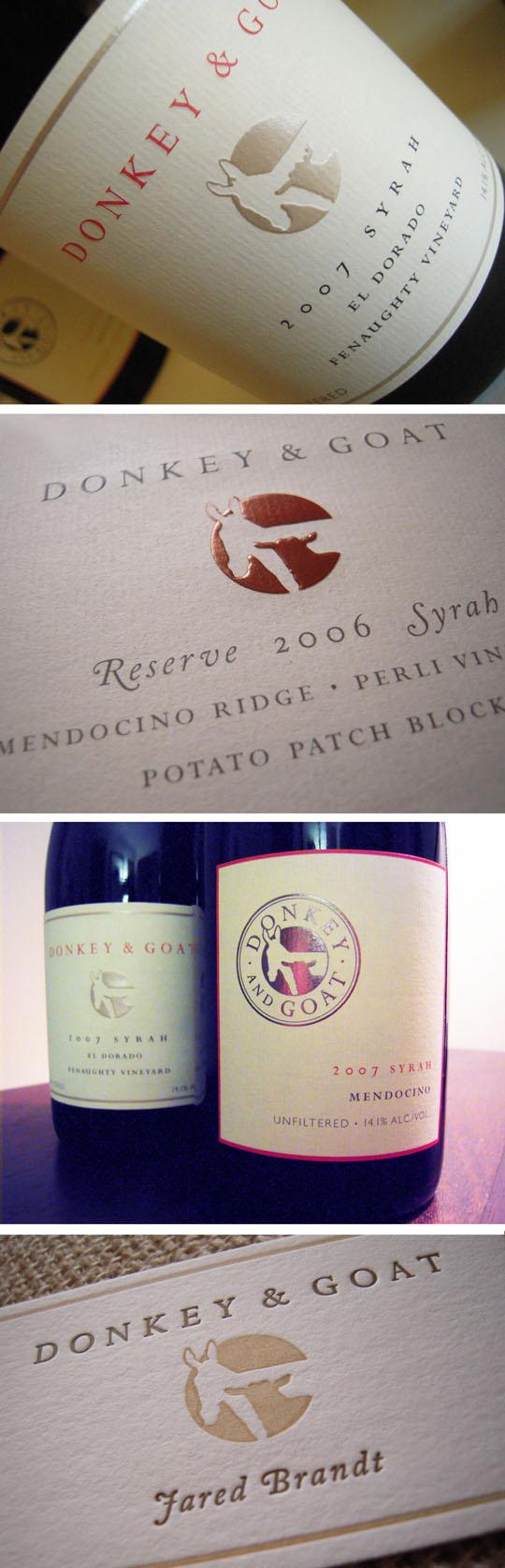 D&G wine labels